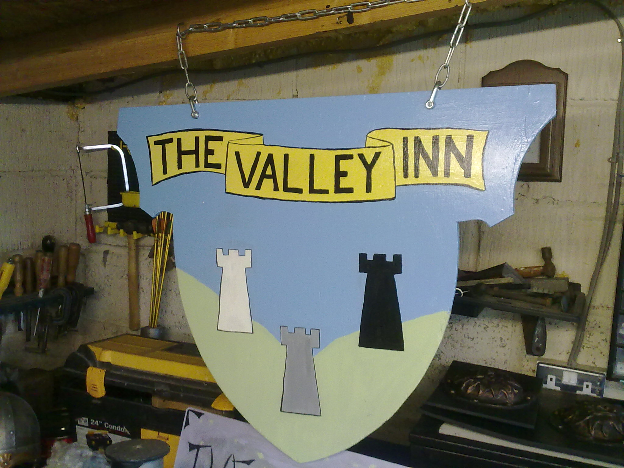 The Valley Inn Tavern sign